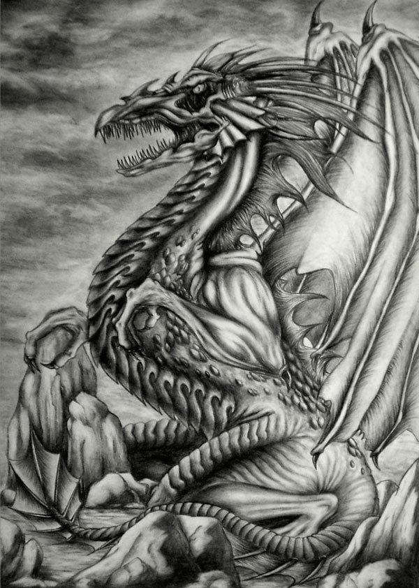 предназначена картинки драконов простых поверхности пола