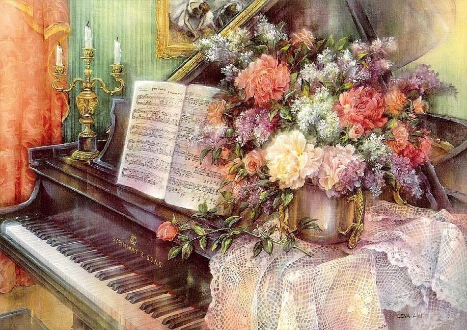 Открытки с днем рождения с роялем, душевным