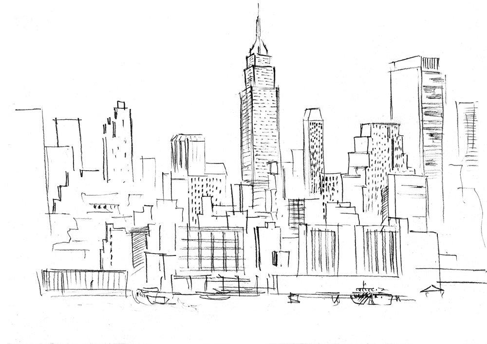 Картинки мегаполиса для срисовки