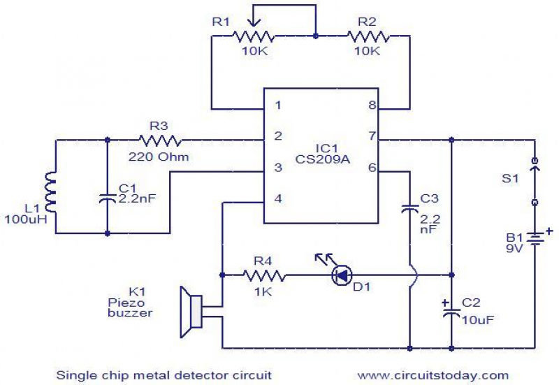 Super Single Chip Metal Detector Circuit Schematic Diagrams Card From Wiring Digital Resources Bemuashebarightsorg