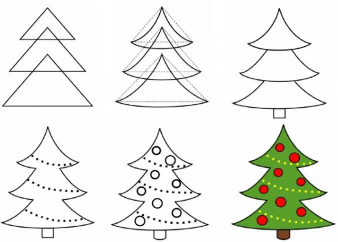 Рисуем открытку к новому году поэтапно презентация, сделать открытку