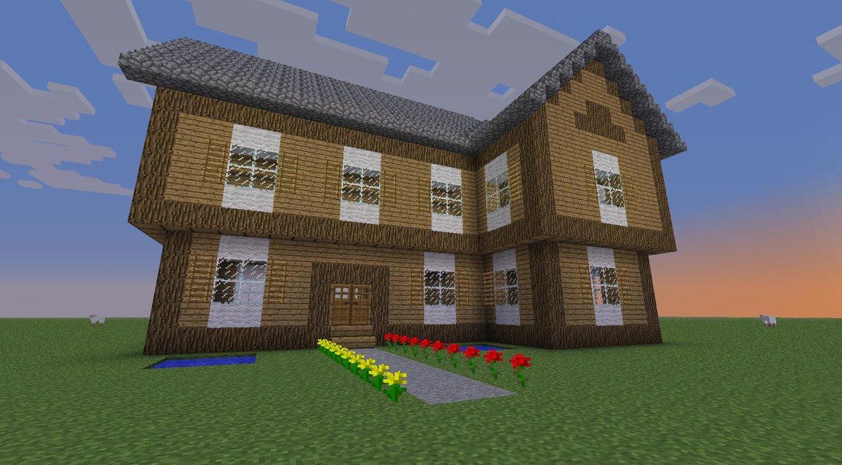 построение дома в майнкрафт по шагам