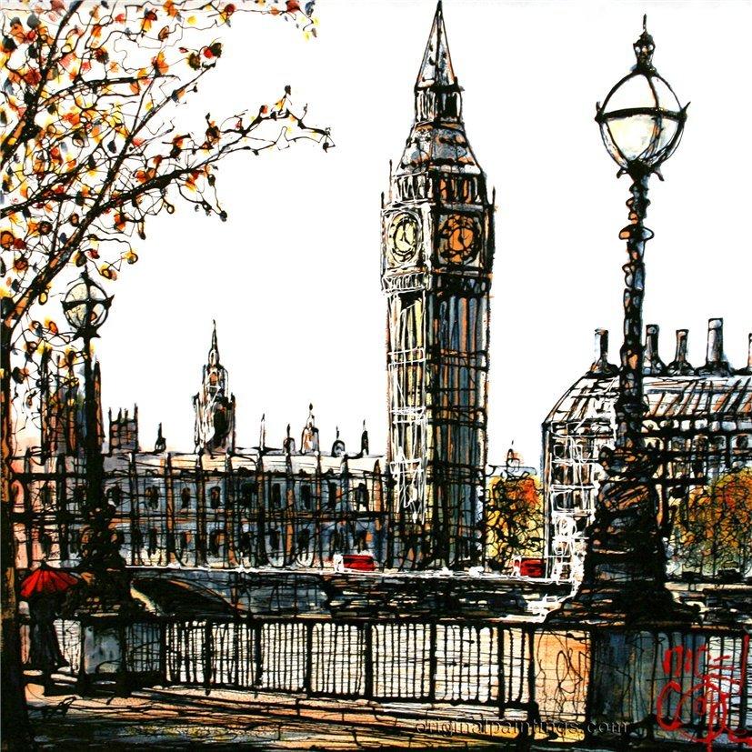 пейзаж лондона картинки