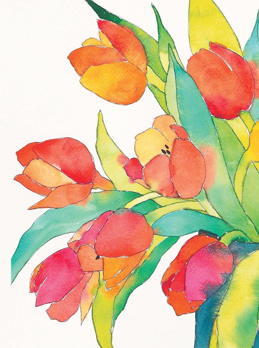 Красивые открытки, цветы акварель картинки нарисованные