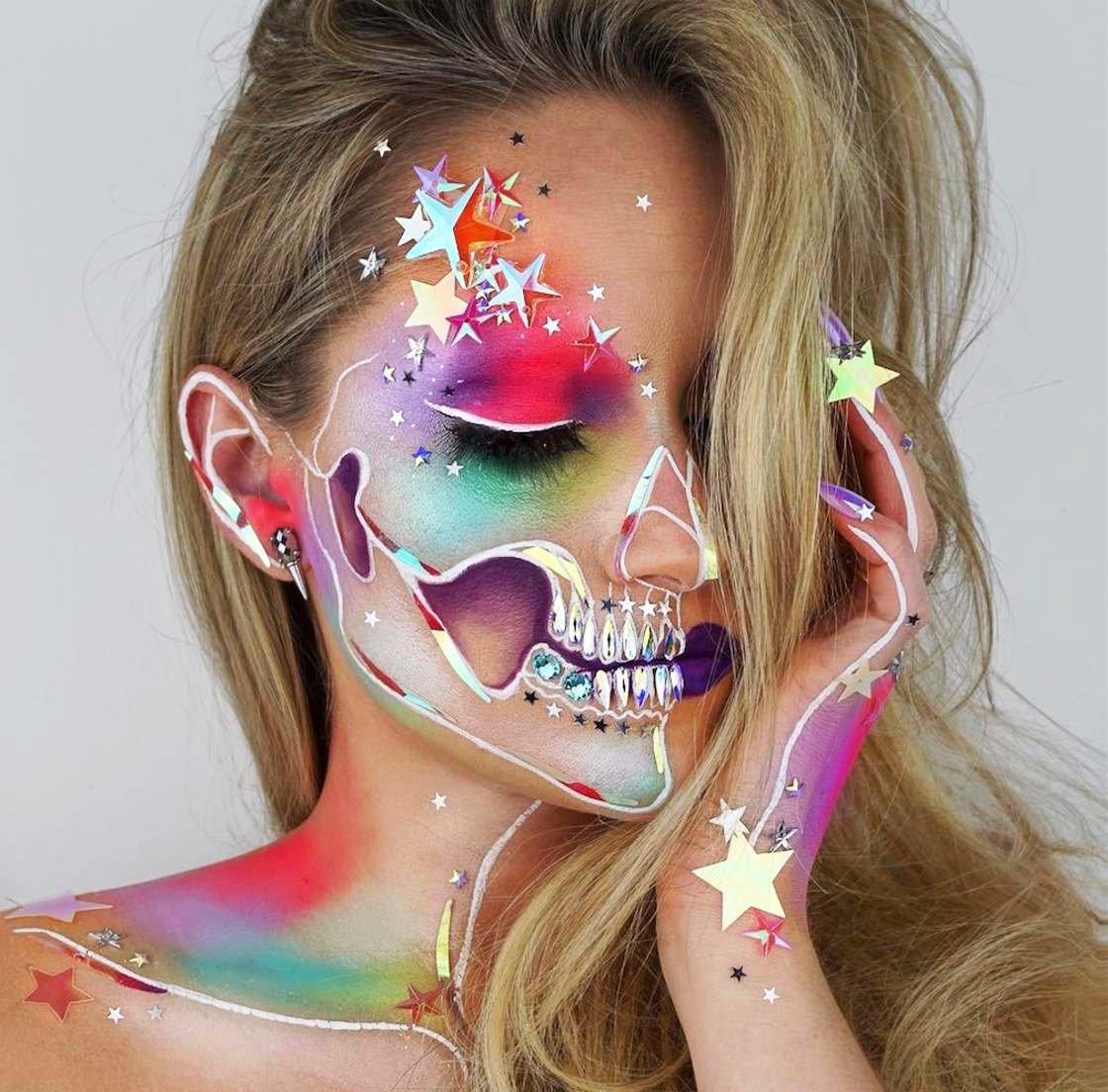 Прикольные картинки макияж, днем