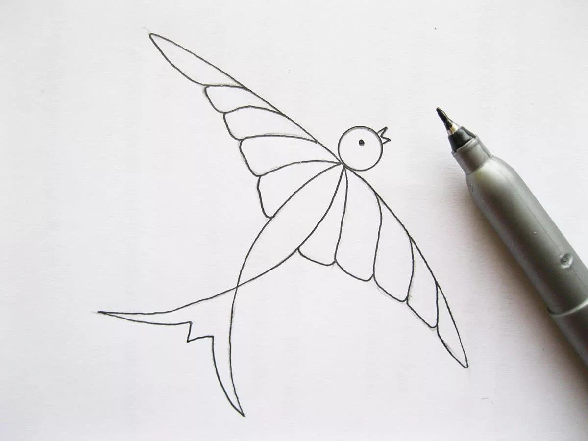 Простые рисунки фломастером пошагово
