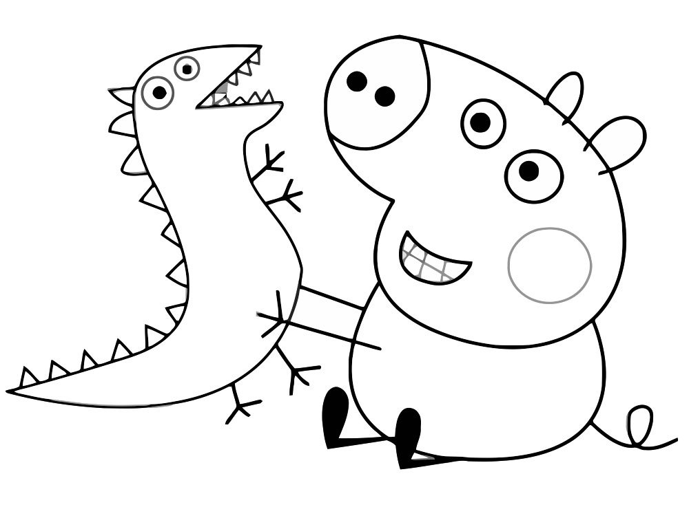 Картинки свинка пеппа раскраска распечатать, поздравительные годовщиной