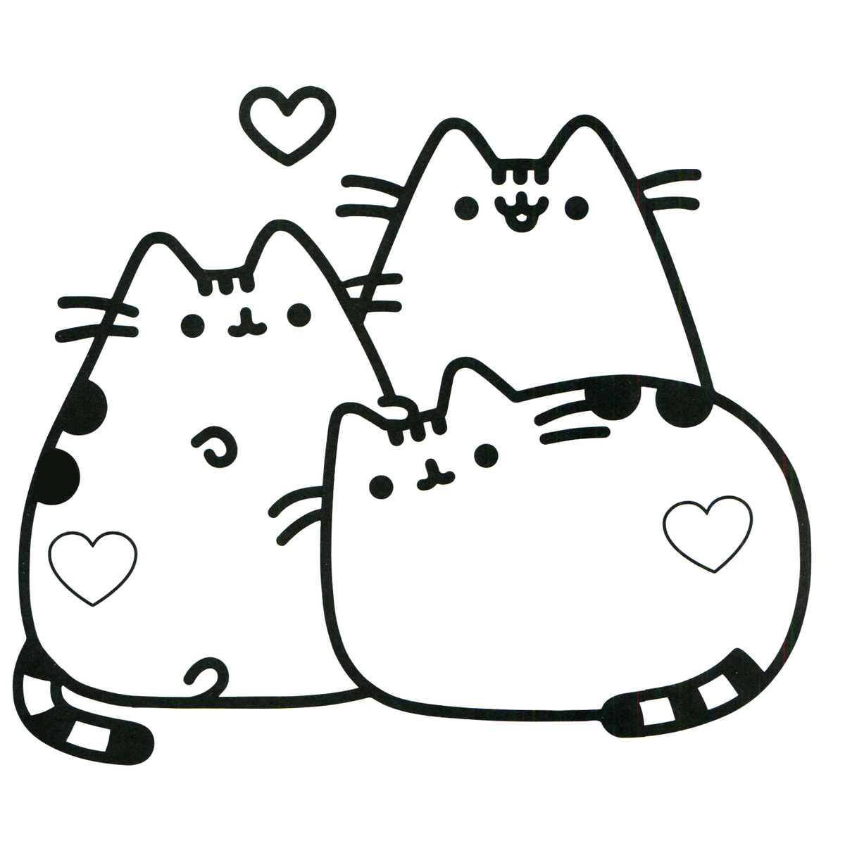 Black And White Pusheen Pictures To Pin On Pinterest Pinsd Card