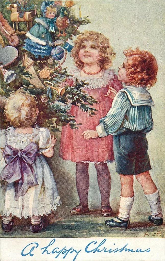Новогодние открытки ретро фото