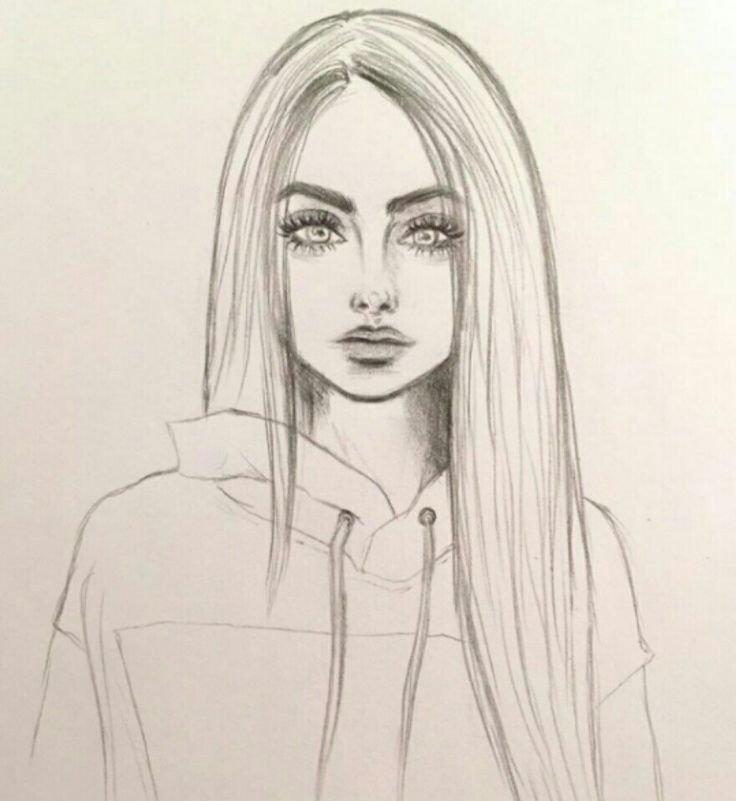 День, прикольные рисунки карандашом девушки