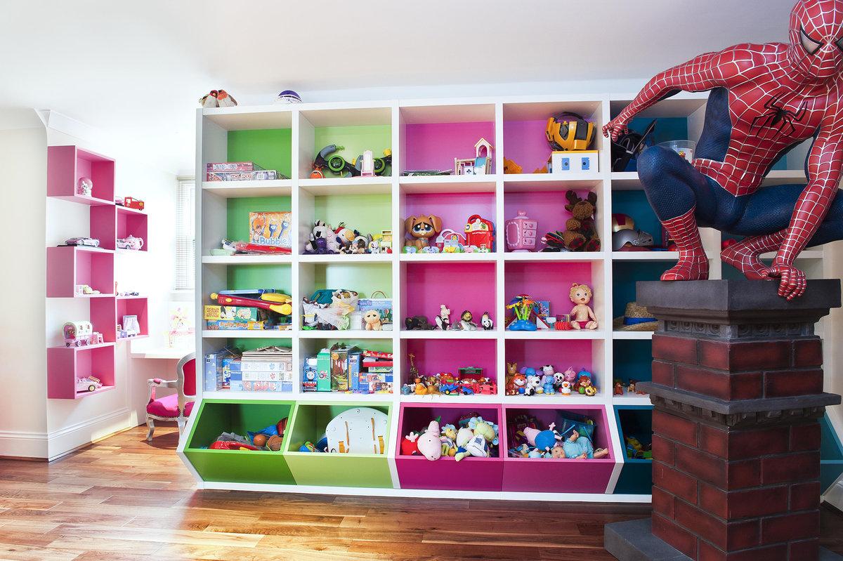 2 интересные идеи для хранения игрушек в детской комнате.