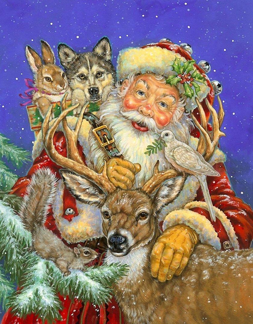 Поздравление своими, рождественские открытки с животными