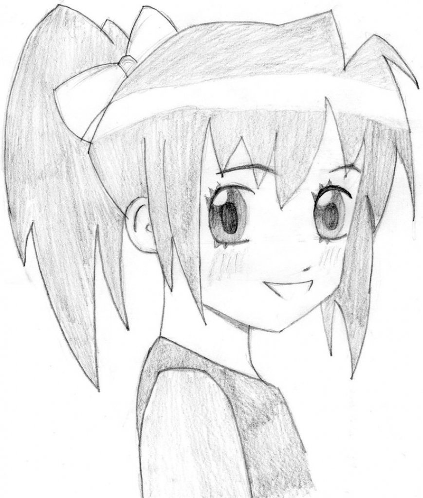 Рисуем картинки аниме простым карандашом
