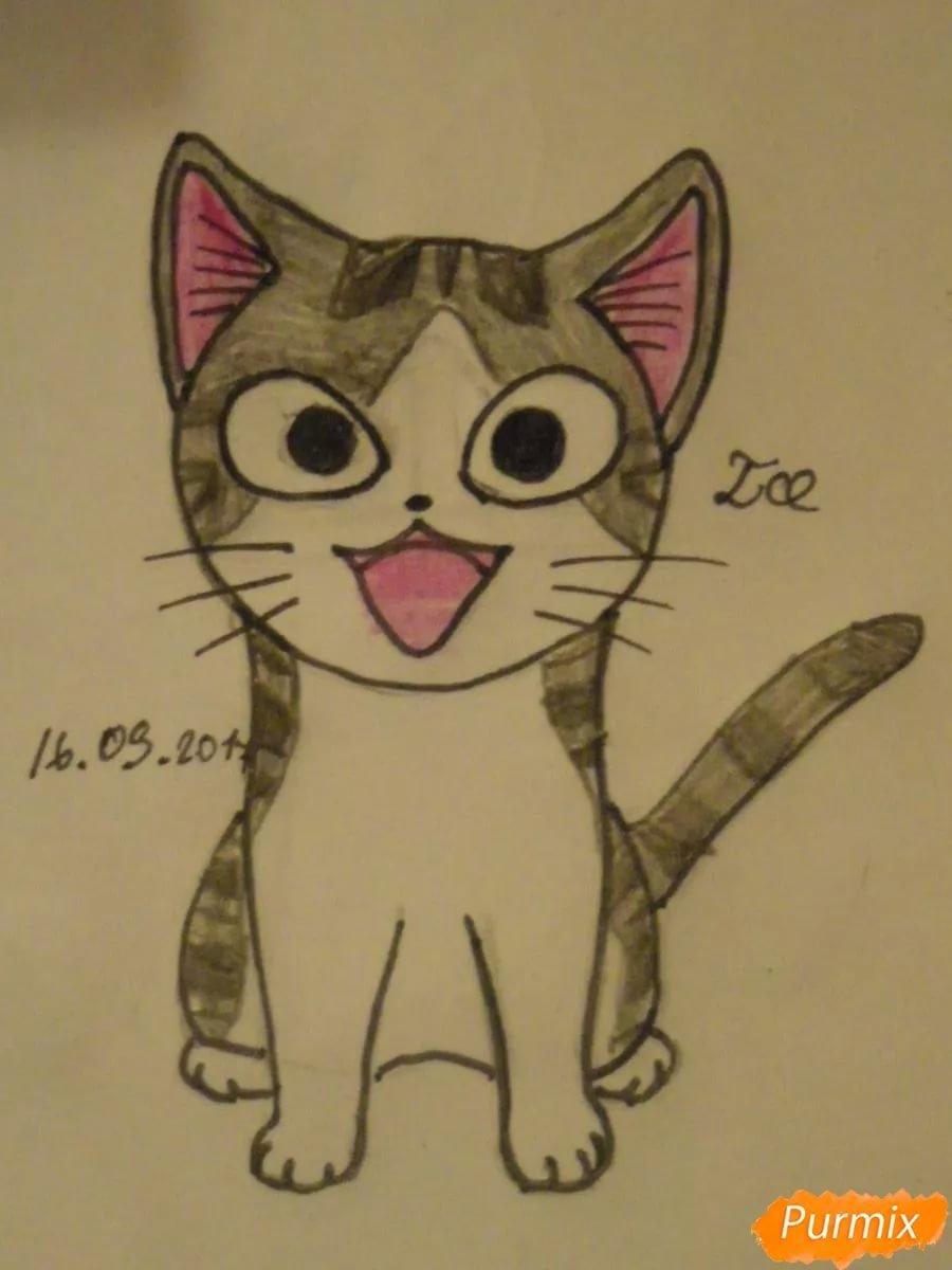Рисунки легкие и красивые котики