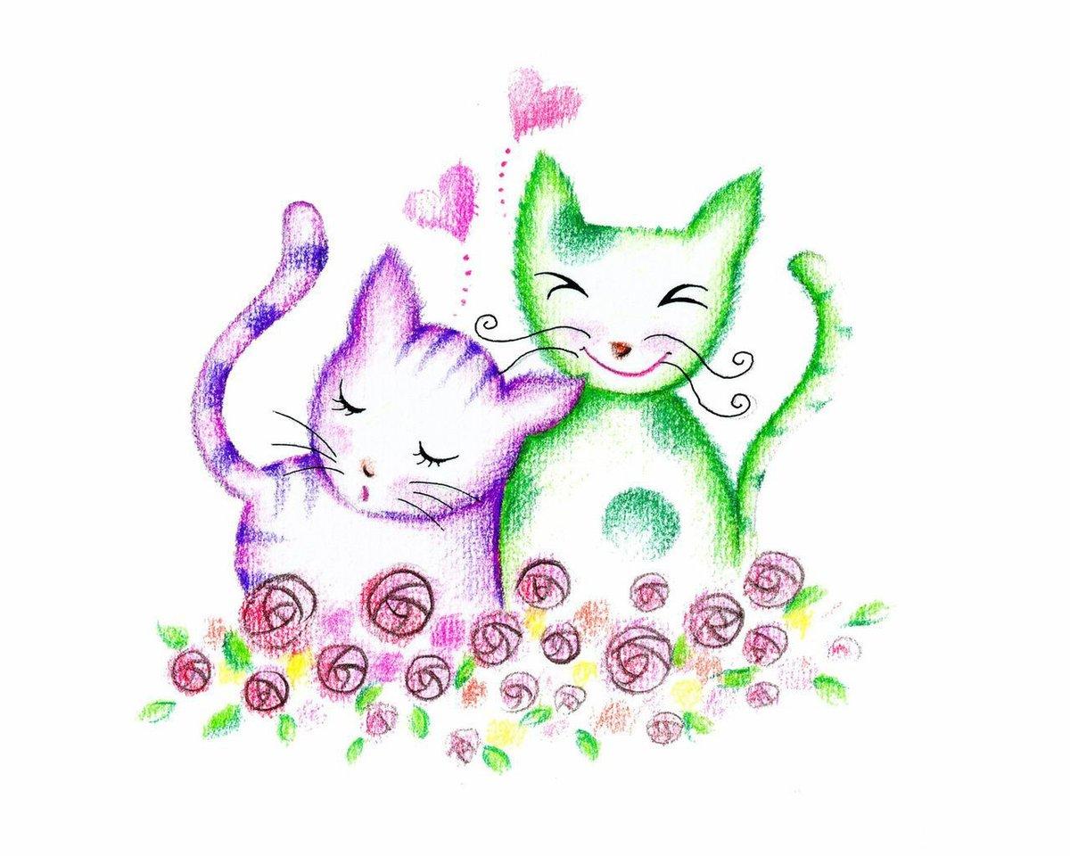 Нарисовать кота для открытки