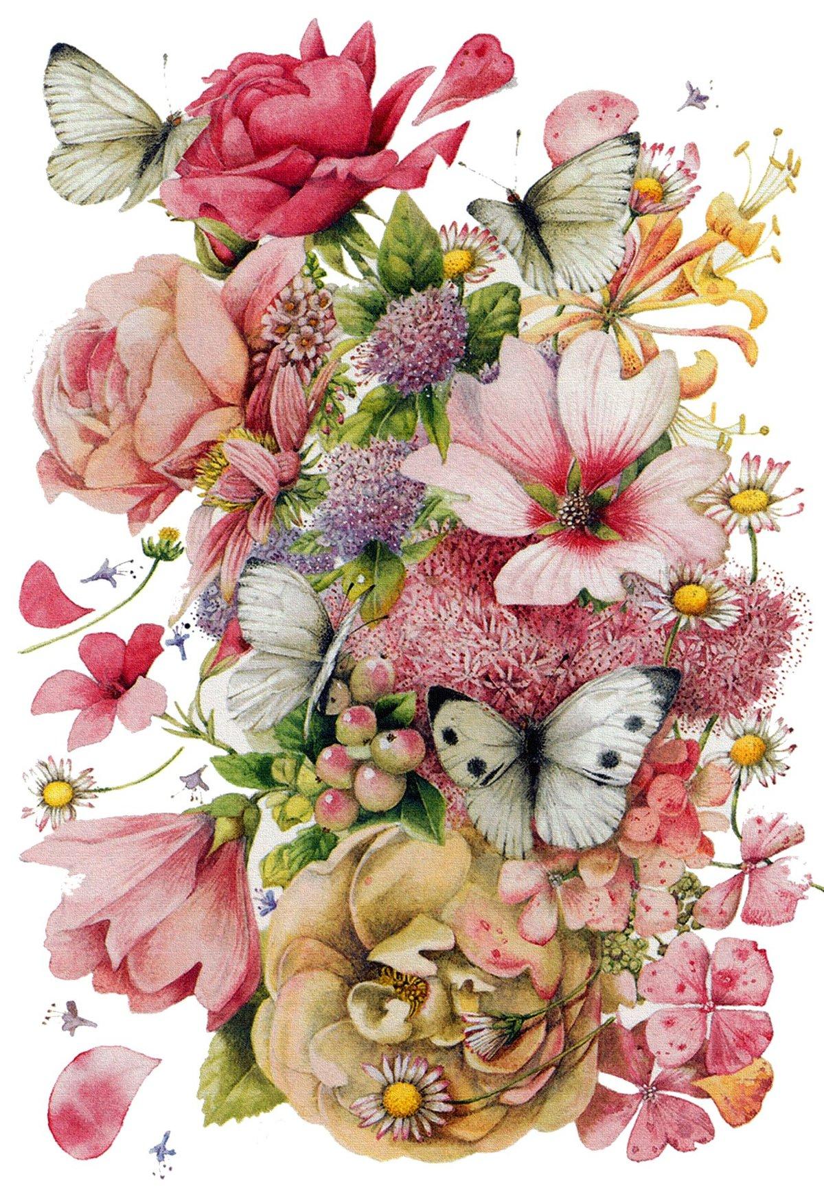 Дедушке, открытка с цветами рисунок