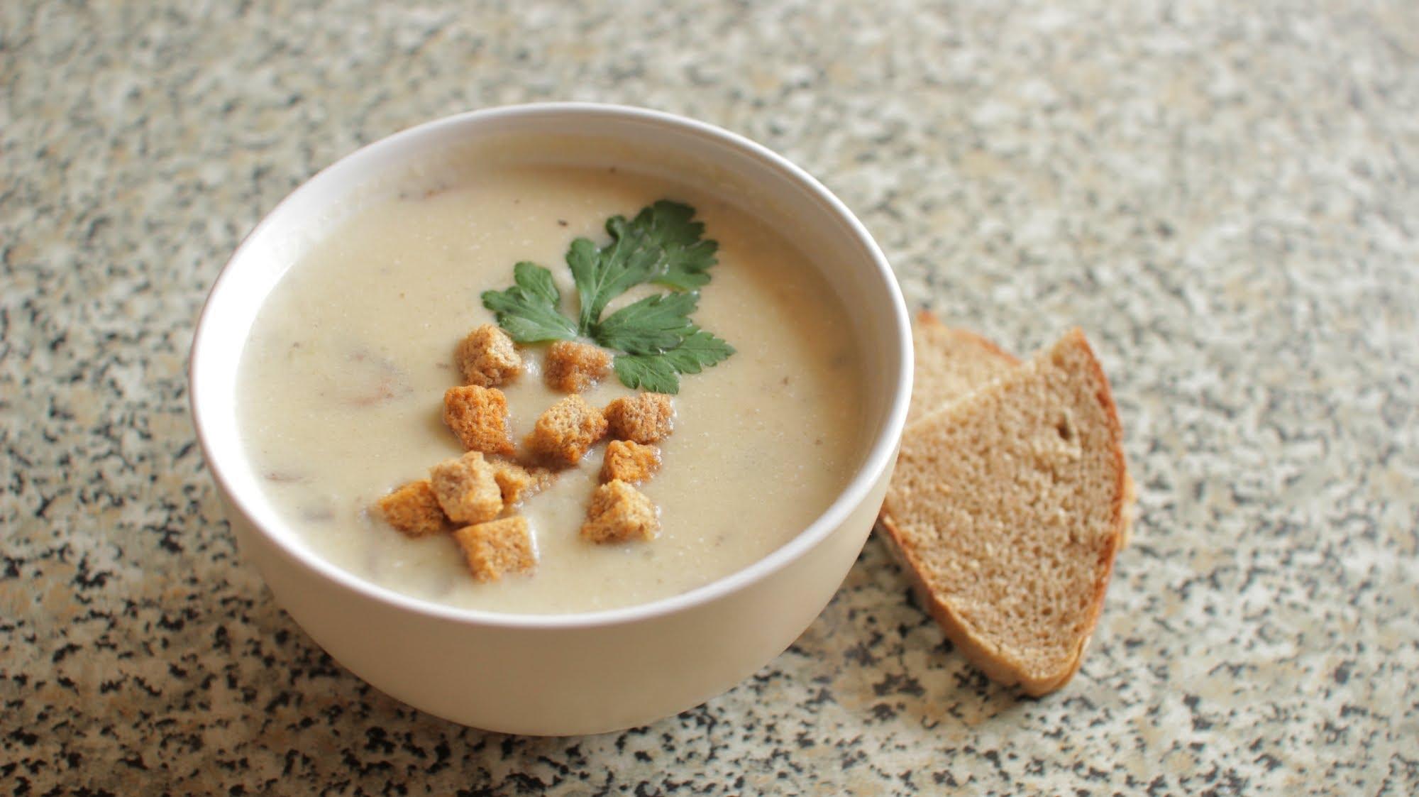 фото рецепт крем суп грибной