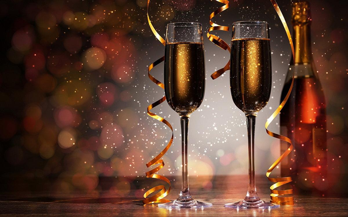 Красивые анимированные картинки, а также С наступающим! Бокалы с шампанским - это самые необыкновенные оживающие изображения! Мир картинок анимаций!