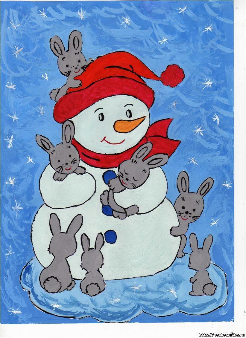 Дети рисуют открытки новый год, летним