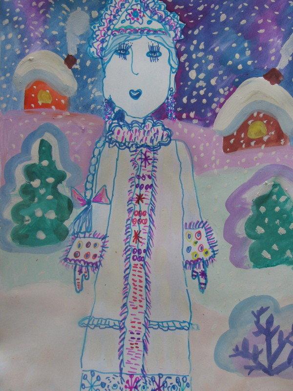 картинка к сказке снегурочка нарисовать маленькому