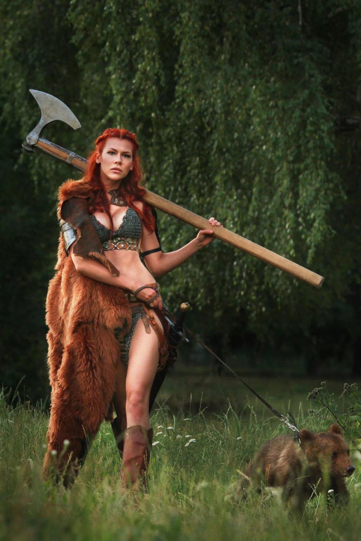 Днем, прикольные картинки девушка викинги
