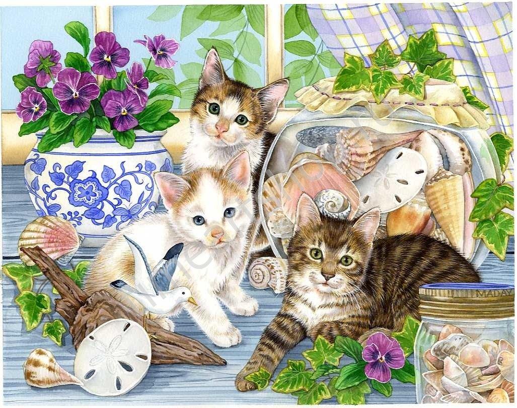 Сиреневые цветы, открытки с животные