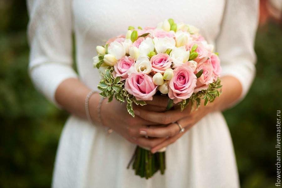 Самые маленькие свадебные букеты фото, солнышко