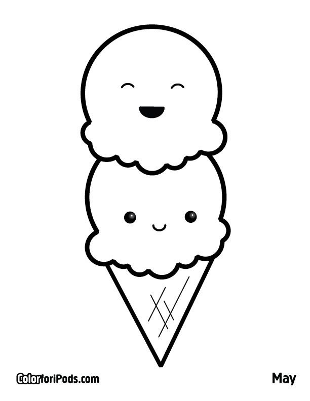 Icecream Cone Coloring Pages