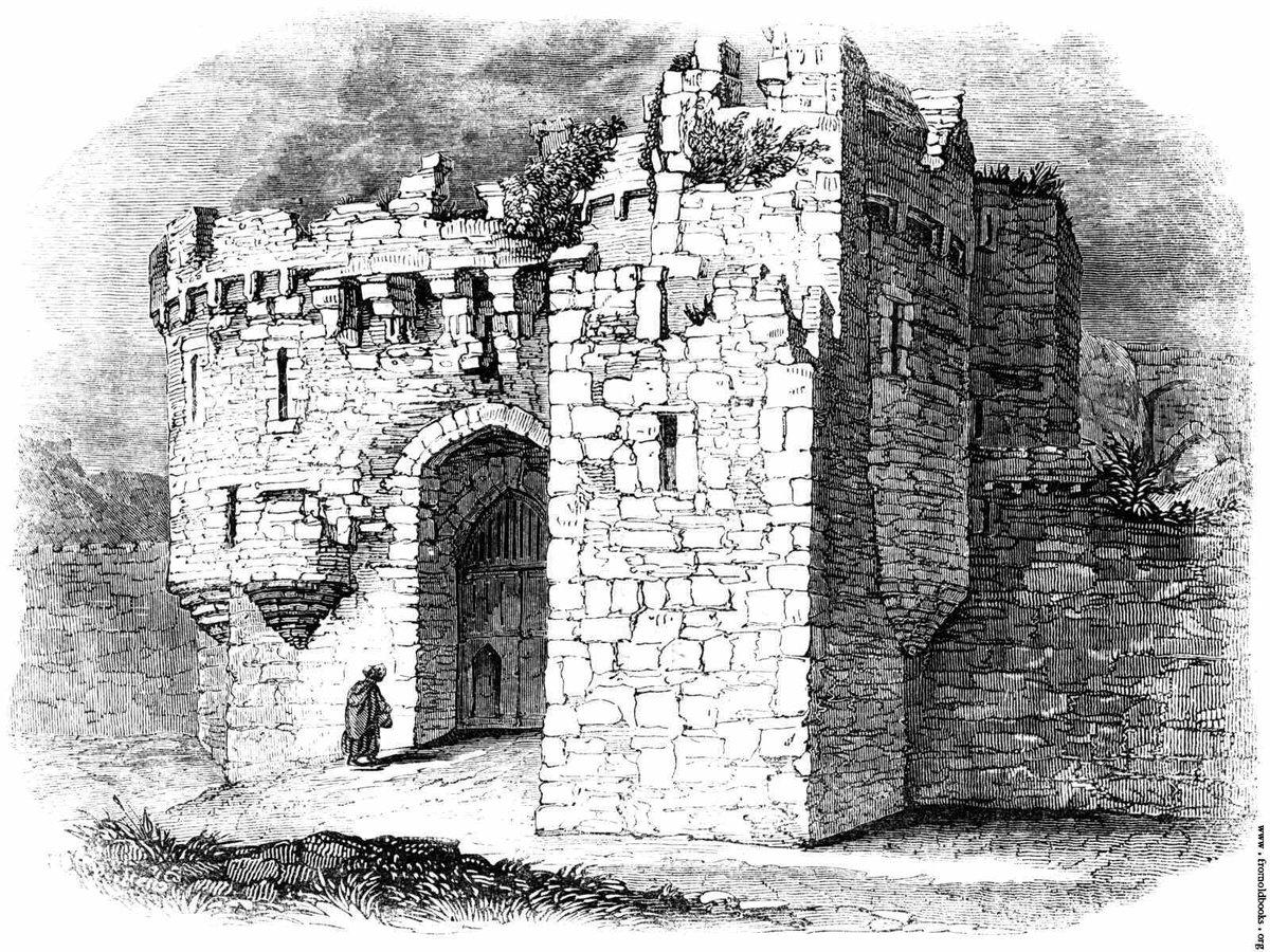 крепость черно белый рисунок поспешила