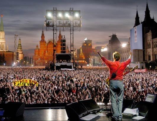 24 мая 2003 года в Москве на Красной площади дал концерт Пол Маккартни