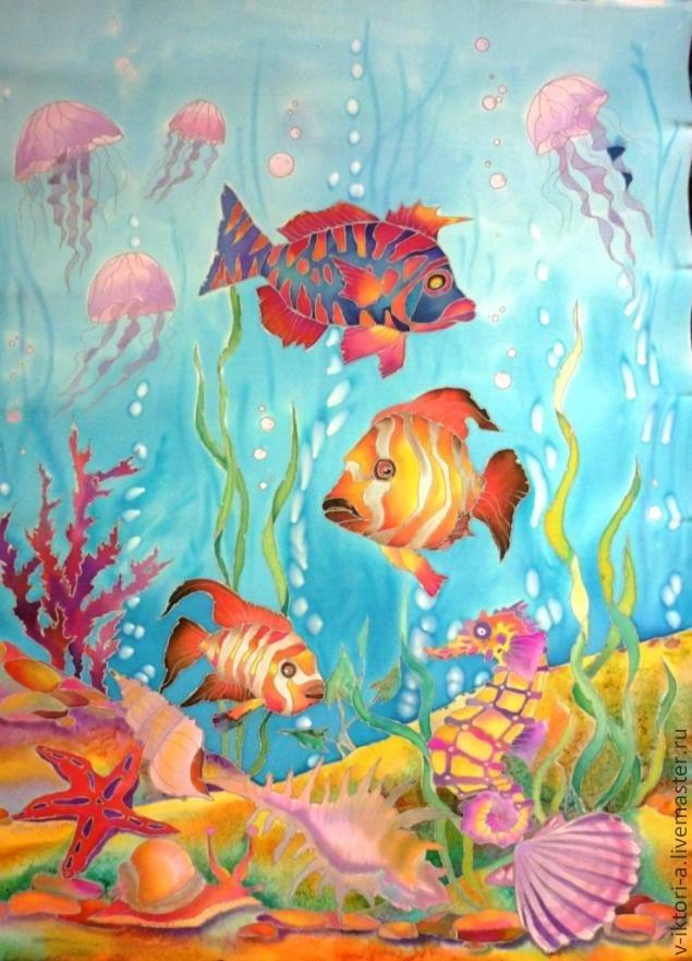 Подводный мир картинки для детей нарисованные, крещение