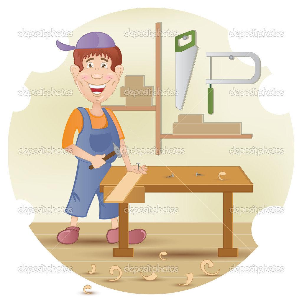 Картинки профессии столяра для дошкольников