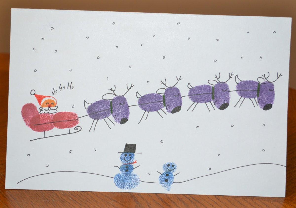 Новогоднюю открытку, рисунок открытки для ребенка