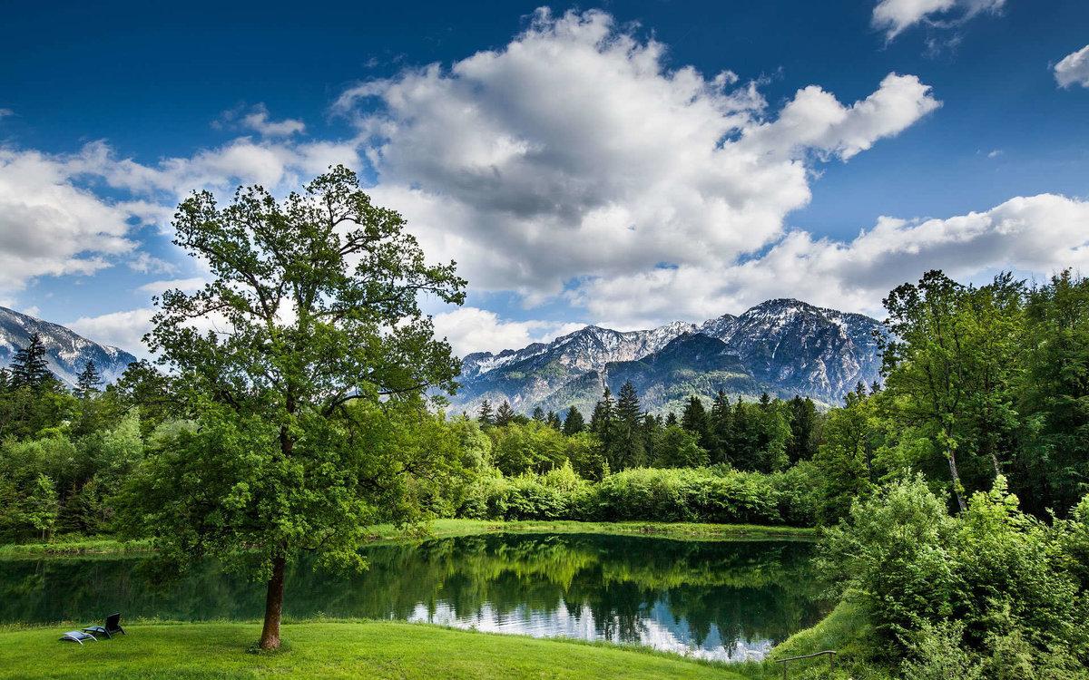 Картинки красивые летние пейзажи, смайлики добрым утром