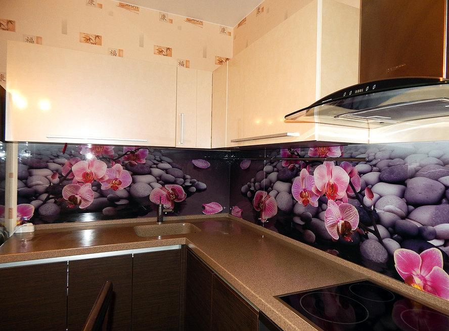Фартуки для кухни стекло с фотопечатью