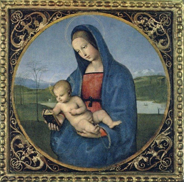 Рафаэль. «Мадонна Конестабиле». Ок.1504. Эрмитаж (С.-Петербург)