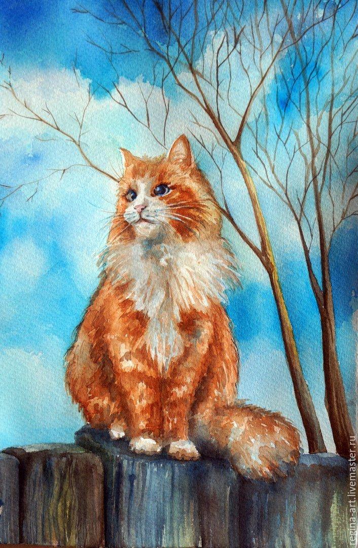 Рисунки кошки поэтапно гуашью дизайне