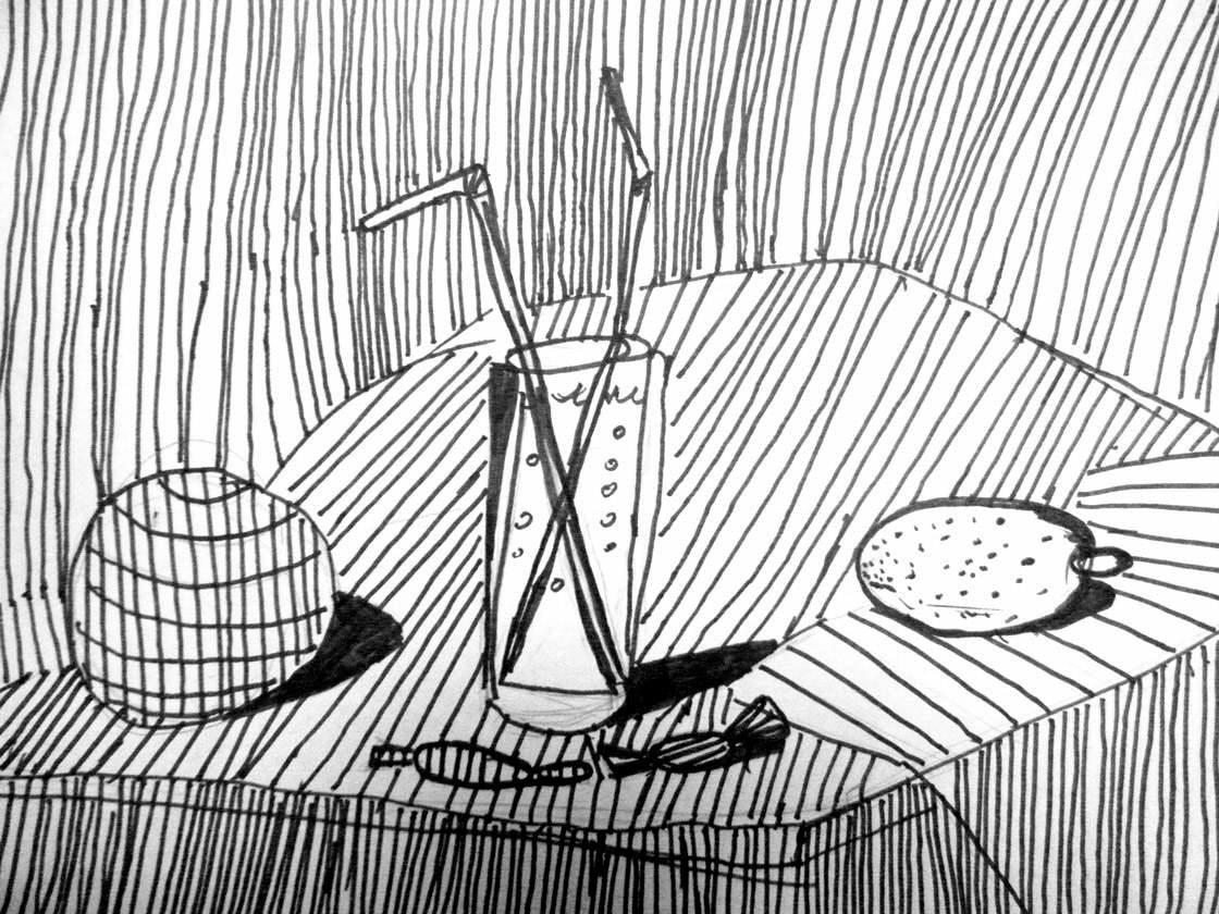 рисунки из линий карандашом толстые и тонкие хорошо