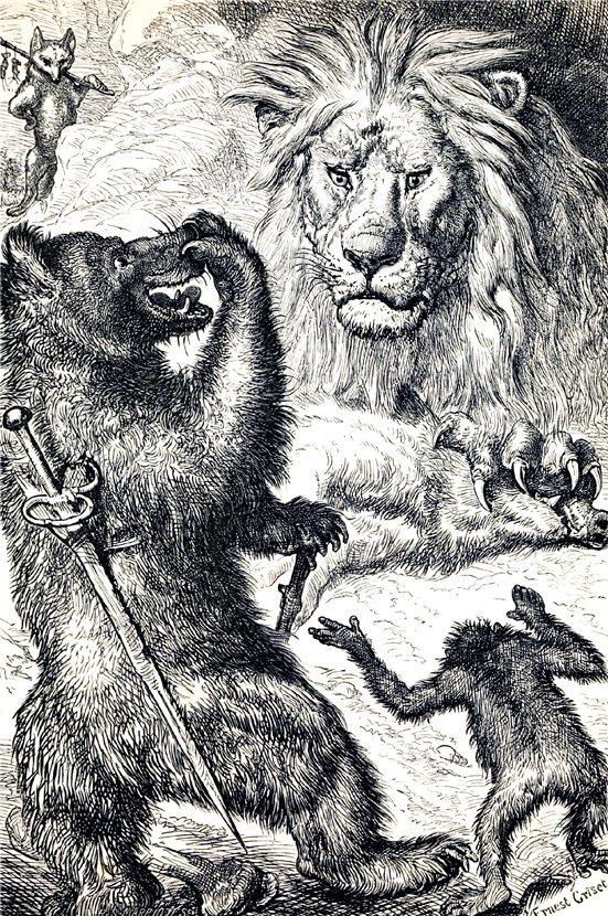 иллюстрации к басне лев и лисица украине