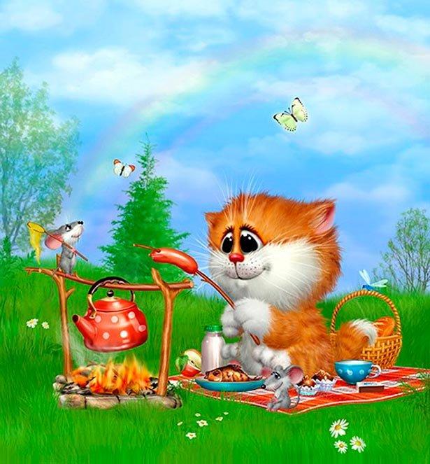 сообщает, анимационные коты алексея долотова утра спится все
