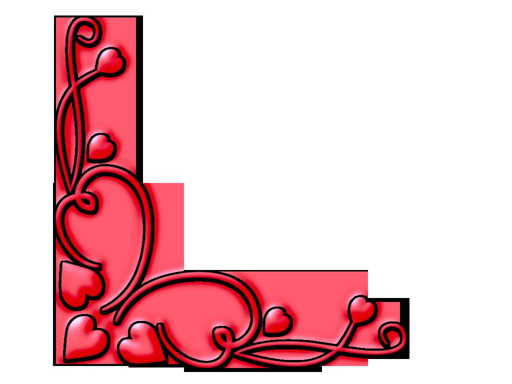 Сердечки для оформления открытки
