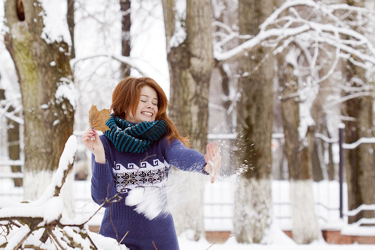 позы для фотосессии зимой в парке таинственностью