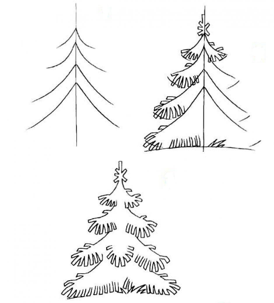 Как нарисовать поэтапно новогоднюю открытку