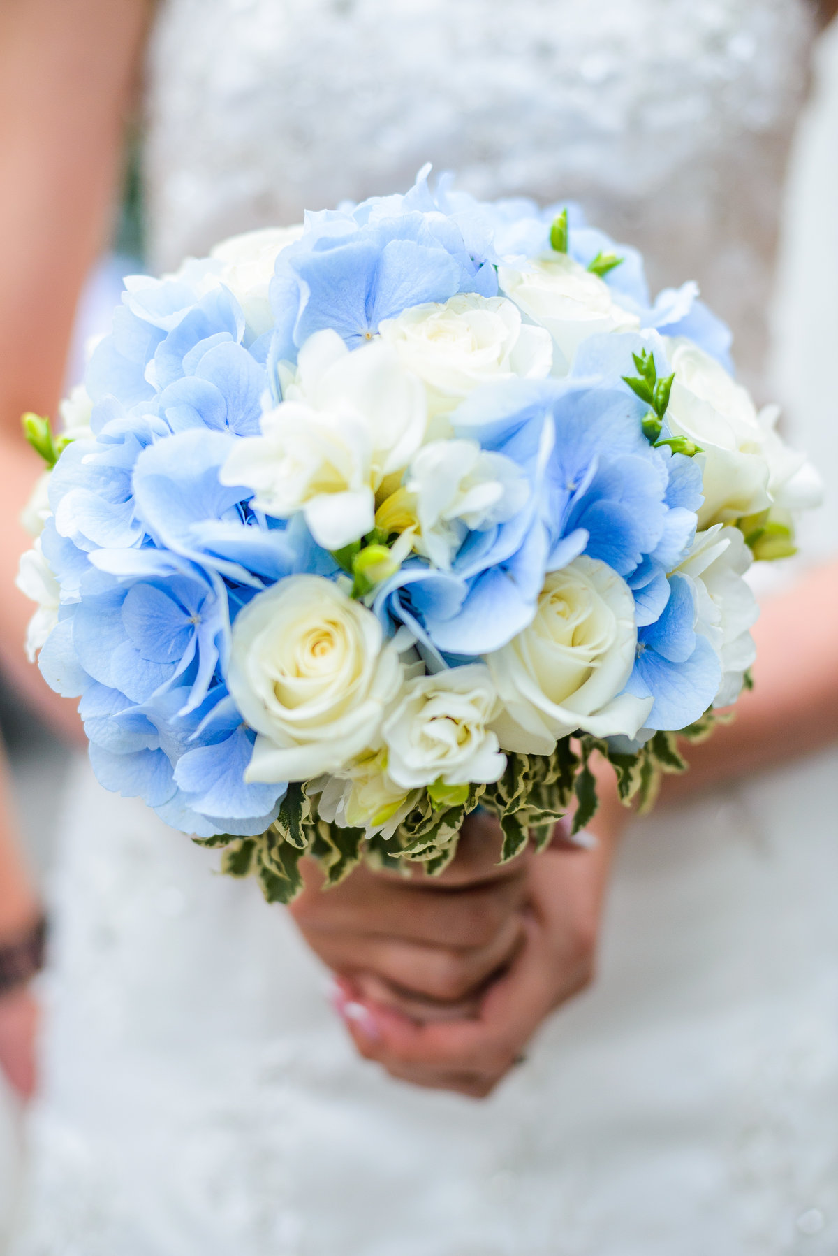 Цветов, свадебный букет невесты в голубых тонах