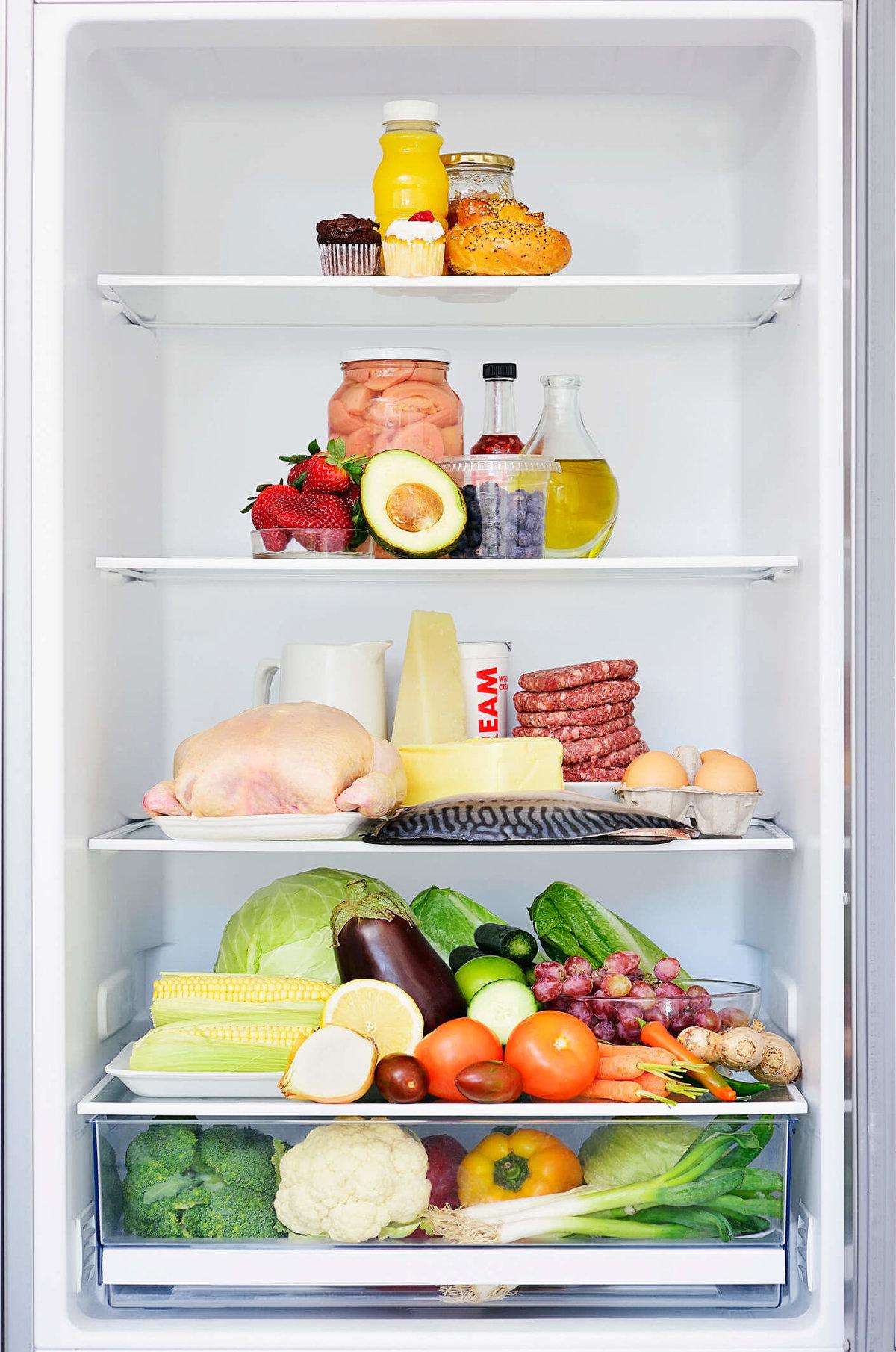 Открыток для, картинка холодильника с продуктами