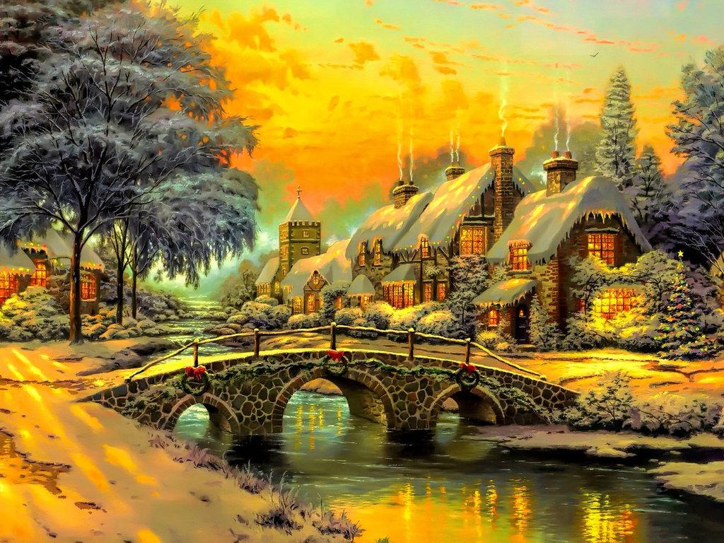 очень красивые картинки сказочная зима сэлфи она