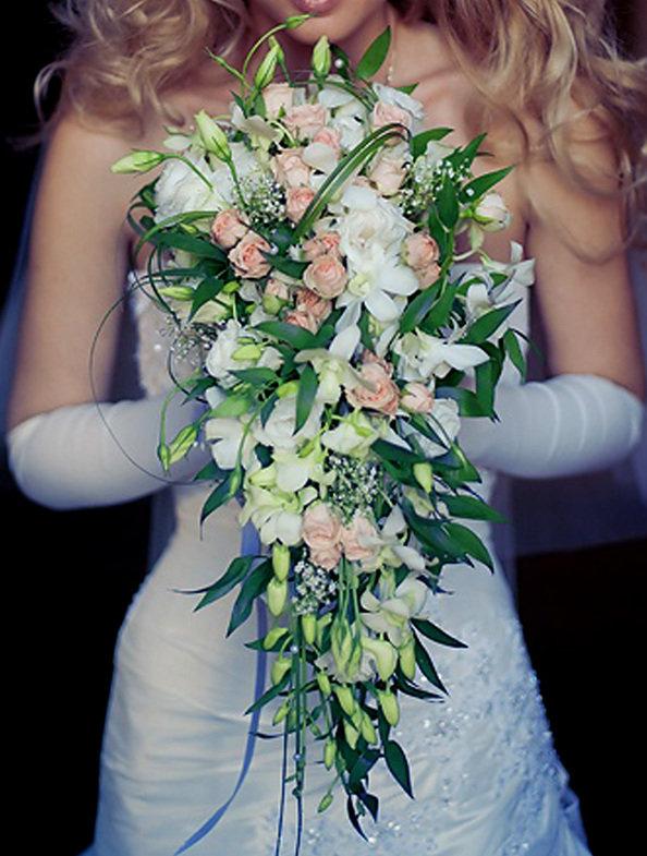 Каскадный свадебный букет мастер класс, невесты спб