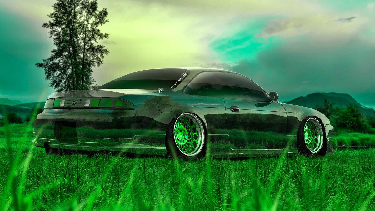 Nissan Silvia S14 JDM 3D Crystal Nature Car