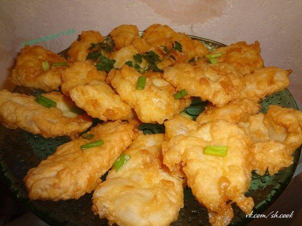 филе минтая в кляре на сковороде рецепт с фото пошагово