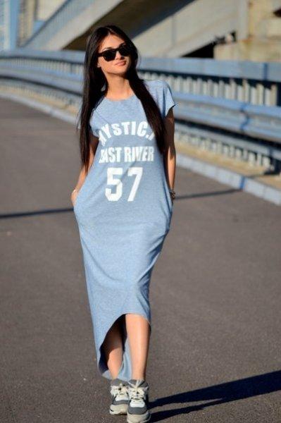 f34bfa17d44 ... Спортивные платья длинные пользуются популярностью благодаря комфорту и  удобству